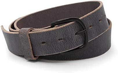 Bootlegger Leather Belt Made in USA Gray with Black Buckle 32 product image