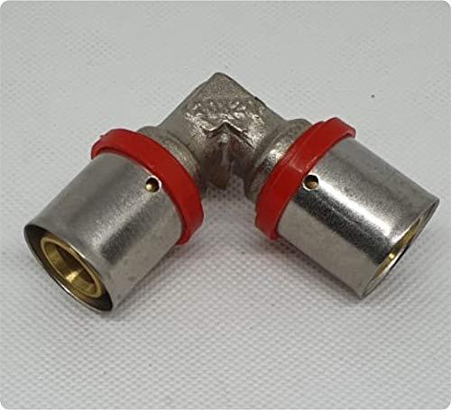 Deine-Kleinteile-24 32mm-32mm Pressfitting Verbinder Kupplung Bogen 90°...