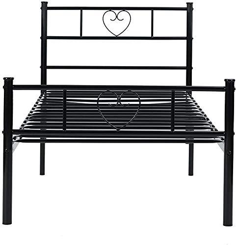 Bettabsicht, Frame, kann Kinder oder Erwachsene aufnehmen, mit großem Speicherplatz,Black-90 * 190cm