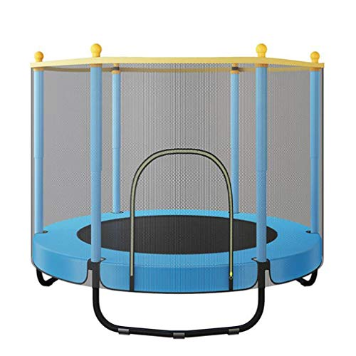 M-YN 4.6FT Trampoline for Kids Outdoor with Enclosure Basketball Hoop for Trampoline Trampoline Safety Small Toddler Trampoline Indoor (Color : Blue)