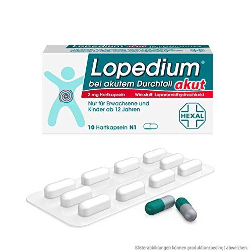 Lopedium akut bei akutem Durchfall, 10 St. Hartkapseln
