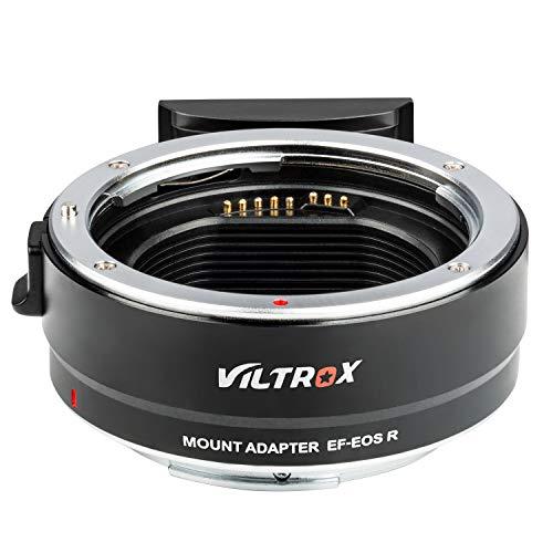 VILTROX マウントアダプター EF-EOS R レンズマウントアダプター AFオートフォーカス 自動絞り レンズIS手振れ補正 キヤノンEFレンズをキヤノンEOS R/EOS RPカメラに装着用