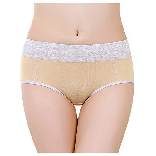 Sonnena Una Pieza Bragas de Algodon Mujer Braguitas Culottes Cómodo Pantalones Braga Mujer Culotte con Seductores Braguita de Cintura Alta