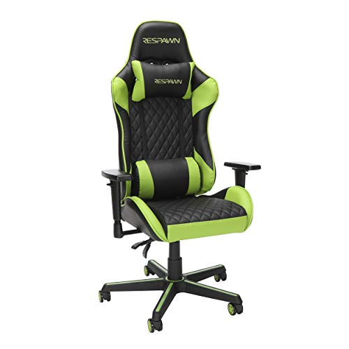 RESPAWN 100 Racing Style Gaming Chair, in Green (RSP-100-GRN)