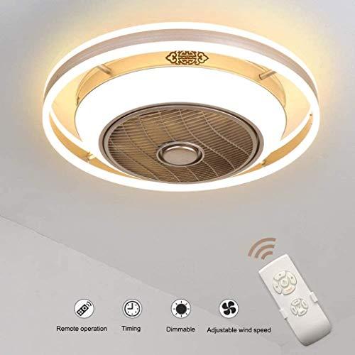 Llds LED Plafondlamp Ventilator Verborgen Ventilator Aan Het Plafond Modern Creative Negatieve Ion Plafondlamp Dimbaar Met Afstandsbediening Voor De Woonkamer Lamp Slaapkamer Kinderkamer Verlichting,50cm