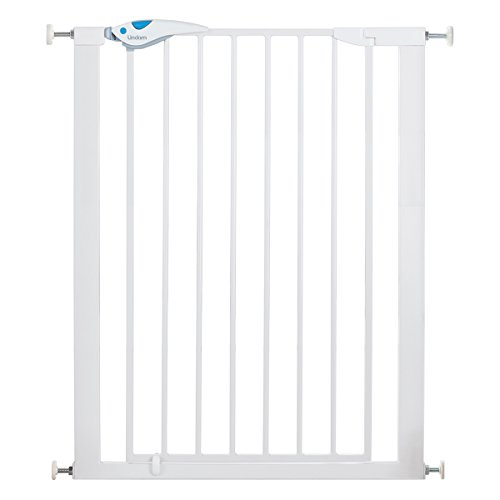 Lindam 051300 Easy Fit Plus Deluxe - Barrera de Seguridad Alta, Blanco, 76-82 cm