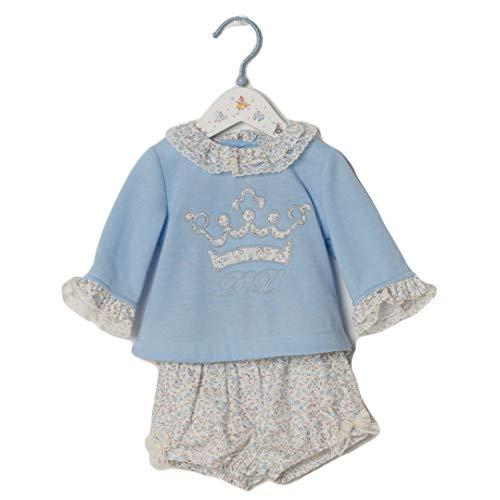 DOLCE PETIT - Conjunto Sudadera Y Braguita bebé-niños Color: Azul Talla: 6M