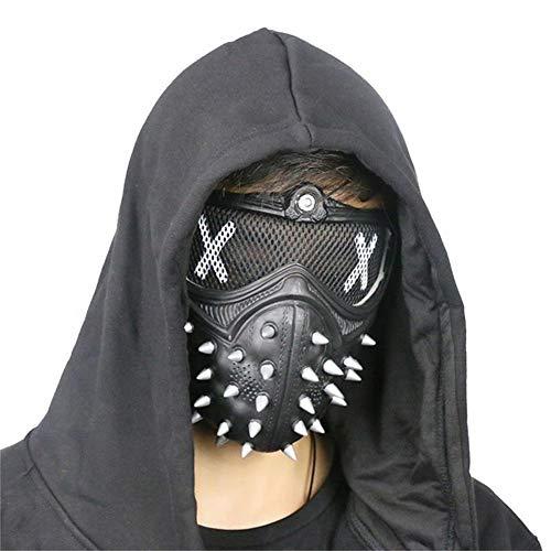 CZA Maske Watch Dogs 2 Schlüssel Marcus Legion LED Leuchten 25 Expression Veränderbare Halloween Glühender Maske Für Halloween Festival-Partei Weihnachten Karneval-Kostüm Cosplay,Schwarz
