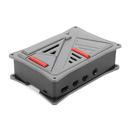 Caja de Metal, Aspecto mecánico Fresco, Ventilador de enfriamiento de bajo Ruido de Funcionamiento, Apto para 4B(Gray Black housing + Fan Module)