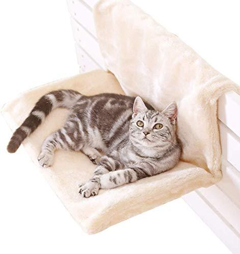 LINGRUI Cama de radiador suave y lujosa para mascotas, para gatos, gatitos, cachorros, perros, con forro polar extraíble lavable a máquina, cálida y acogedora, cama para dormir