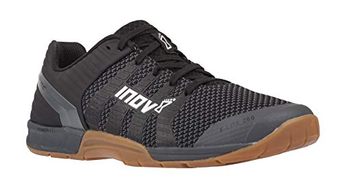 Inov-8 F-Lite 260 Knit - Multipurpose Cross Training Shoes - Athletic Shoe for Gym, Training and Weight Lifting - Wide Toe Box - Black/Gum 11.5 M UK