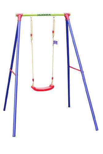 HUDORA Schaukel-Gestell HD 200, metall mit Kinder-Schaukel - Bretschaukel aus Kunststoff - 64018