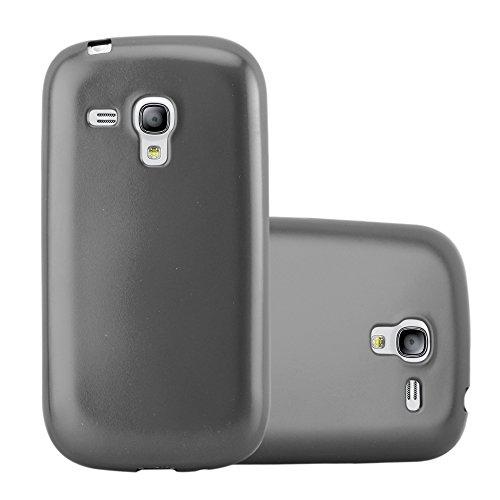 Cadorabo Coque pour Samsung Galaxy S3 Mini en Metallic Gris - Housse Protection Souple en Silicone TPU avec Anti-Choc et Anti-Rayures - Ultra Slim Fin Gel Case Cover Bumper