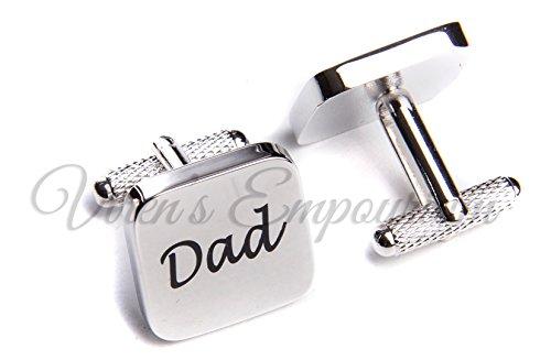 VIRENS SQUARE SILVER mens wedding cufflinks cuff link Groom best man usher...