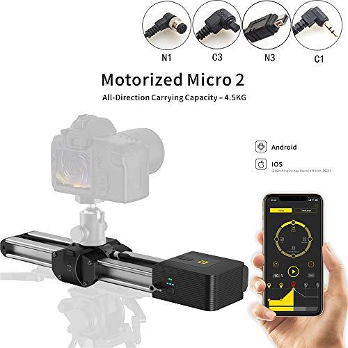 Control Deslizante Micro 2 motorizado, Distancia de Desplazamiento Doble de 54 cm / 21 Pulgadas, Capacidad para Todas Las direcciones de 4.5 kg
