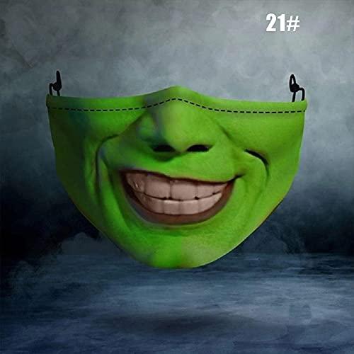 Jishu Máscara de media cara para Halloween Cosplay Props máscara de miedo boca cubierta Halloween Festival fiesta suministros 5 unidades