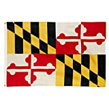 PringCor 3x5FT State of Maryland Big Flag 3x5FT MD Polyester Brass Grommets