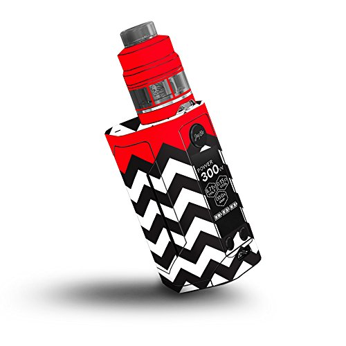 MightySkins Skin Compatible with Wismec Reuleaux RX GEN3 300W - Red Chevron | Protective, Durable, and Unique Vinyl Decal wrap Cover | Easy to Apply, Remove, and Change Styles | Made in The USA