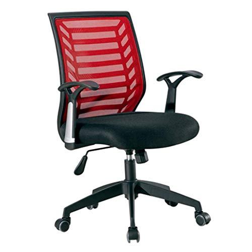 N/Z Tägliche Ausrüstung Stühle Premium Bürostuhl Ergonomische Aufgabe Drehstuhl Büro Schreibtisch Computer Executive Arbeitszimmer Empfang Arbeitsnetz Atmungsaktiv Rot