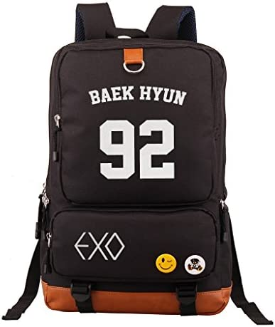 Fanstown EXO Kpop Backpack Pencil case Set Canvas Messenger Bag with lomo Card product image