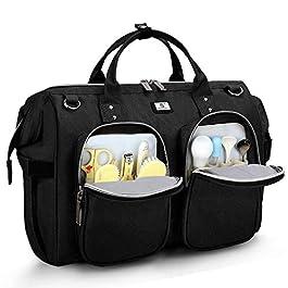 Sac a Langer Bandoulière Bébé Bag Grande capacité en Oxford Imperméable Organiseur Original pour Fille Garçon avec 2…