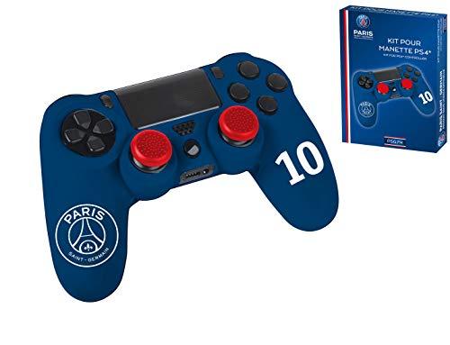 Pack d'accessoires de customisation pour manette PS4 - Paris Saint Germain n°10 Bleu