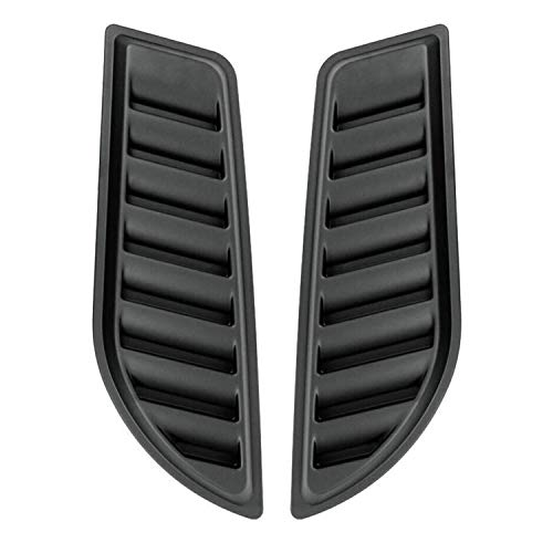 OMAC Auto Exterior Accessories Car Hood Vent Scoop Kit   Decorative Air Flow Intake Scoop Black   Fits Jeep Gladiator