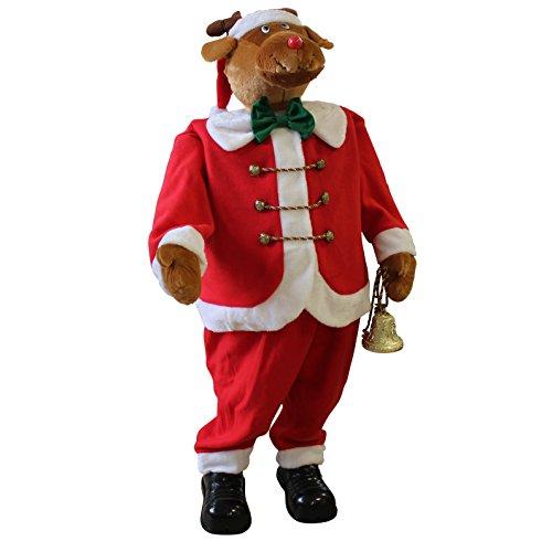 lux.pro Babbo Natale Grandezza 120cm Canterino Ballerino Musica Alce XXL