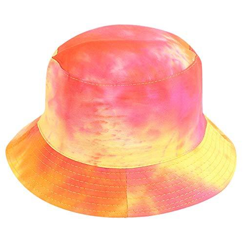 ZHENQIUFA Sombrero Pescador Gorras Sombreros De Cubo Gorras De Pesca Mujeres Hombres Sombrero De Disfraz Moda Dos Lados Sombrero De Cubo Al Aire Libre Sombrero De Sol Cubo Unisex Gorras-Rojo