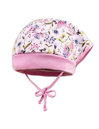 maximo Baby-Mädchen Kopftuchmütze Mütze, Mehrfarbig (Weiß-Zartblau-Pink-Fee/Lilac 1859), 45