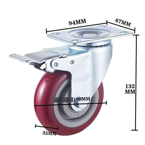 FFLSDR Rueda Universal Rueda De Freno Industrial De Servicio Pesado (Color : C-Brake Wheel)