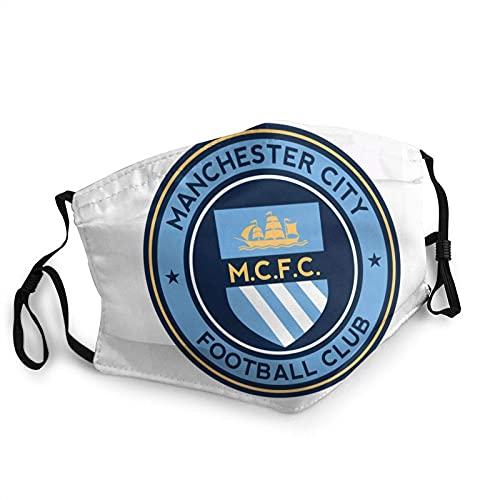 Clásico Manchester City Academy reutilizable cara Ma_sk pasamontañas lavable al aire libre nariz cubierta de la boca moda para hombres y mujeres
