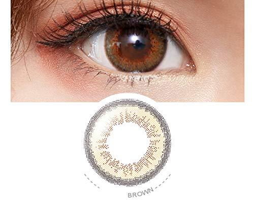 Without brand Kontaktlinsen for Augen-Benutzer auswählen 1 Tag Farbe Kontaktlinsen, 0.00 Dioptrien (Farbe : Sunny Brown, Größe : 0)