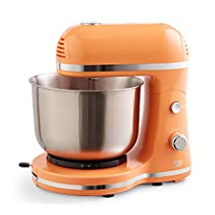 """VERSATILE: The Delish by Dash Stand mixer is the perfect kitchen accessory for the budding baker or home cook looking to mix, beat, cream, or whip something up—sweet or savory COMPACT: Weighing less than 5lbs, and standing only 10.5"""" tall, the Dash S..."""