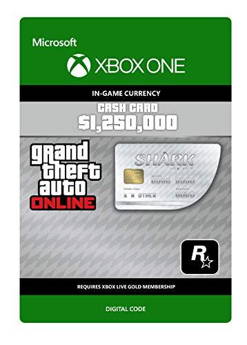 Grand Theft Auto Online - GTA V Great White Shark Cash Card | 1,250,000 GTA-Dollars | Xbox One - Codice download