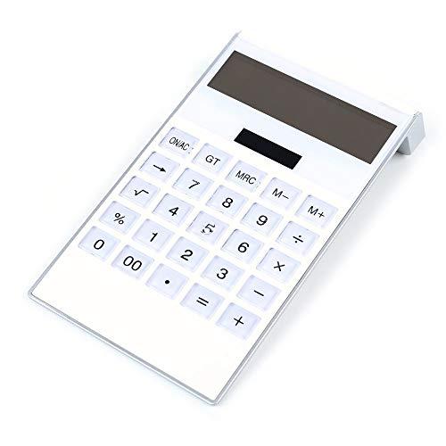 Reeseiy Solar Technisch Wissenschaftlicher Taschenrechner Rechner Chic Kalkulator Tischrechner Mit Naturlichem Display(Solar+Batterie) Weiß (Color : Colour, Einheitsgröße : Einheitsgröße)