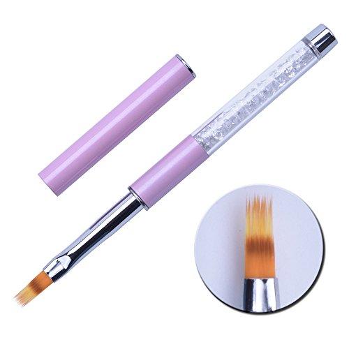 1 Stück UV Gel Nagel Ombre Pinsel Nylon Haar Strass Griff Pinsel Professionelle Nagelkunstwerkzeuge