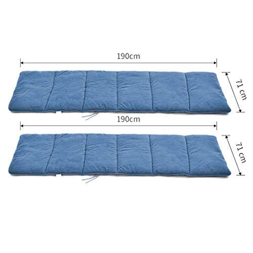HEJINXL Sun Lounger Cushions Muebles Jardín para Patio Almohadilla Gruesa Núcleo MateAlmohadilla Relajante Reclinable Interior Aire Libre 2 Piezas (sin Silla) (Color : B, Size : 190x71cm)