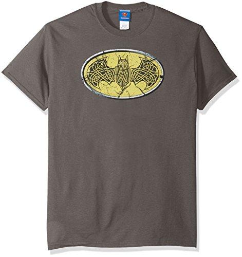 DC Comics Men's Batman Short Sleeve T-Shirt, Celtic Charcoal, X-Large