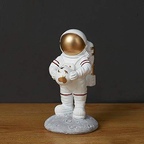 JIAXIN Esculturas Decorativas Estatua del Astronauta Escultura De Astronauta Resina Pieza De...