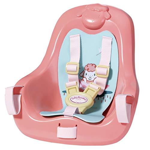 Zapf Creation 703335 Baby Annabell Active Fahrradsitz mit Gurtsystem, schnell und leicht anzubringen, Puppenzubehör 43 cm