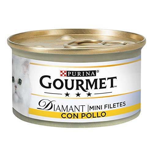 Purina Gourmet Diamant Finas Lonchas comida para gatos Carnes Asadas Pollo 24 x 85 g