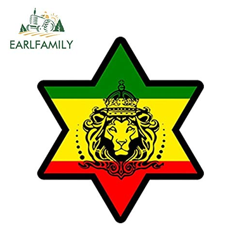 FAFPAY Sticker de Carro  13 cm x 13 cm Car Styling Sticker Car Decal Rasta Reggae jah macbook Lion of Judah a Love rastafarai Impermeable dwaterproof Water   Style A