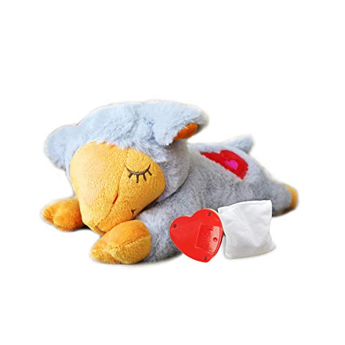 All for Paws Puppy Sleep Aid Plush Toy, Heart Beat Behavioral Aid Warm Toys for Dogs