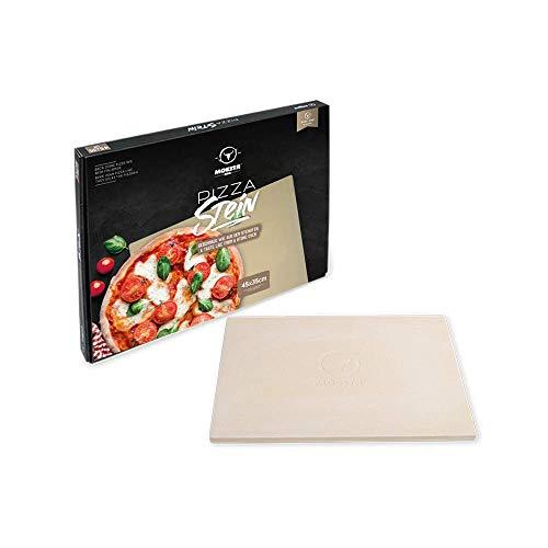 Moesta-BBQ 19217 - Pizzastein No. 1 - Eckig 45 x 35cm - Cordierit Naturstein – Italienische Pizza vom Grill – Ofenfest