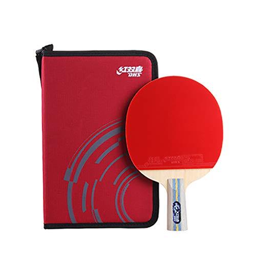 DHS 6 Star Professional Paleta De Ping Pong,  Raquetas Premium  con Bolsa De Almacenamiento, para Torneos
