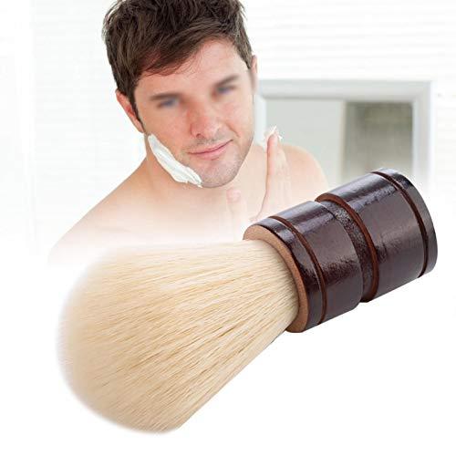 Brocha para barba, brocha de afeitar portátil antideslizante, práctica para la belleza y el peinado(Hemu+Nylon)