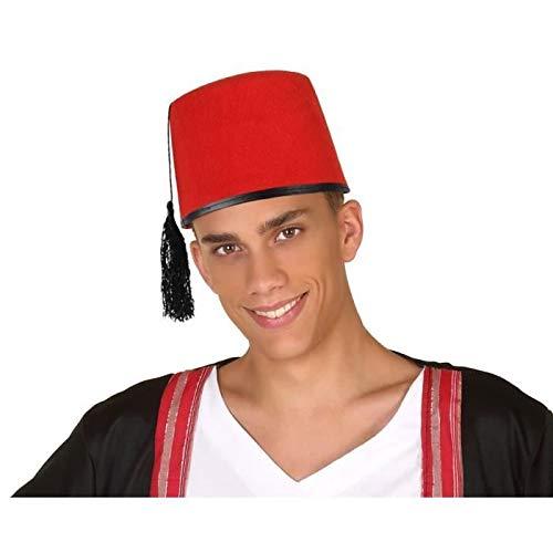 Atosa-58854 Sombrero Fez Árabe, Color rojo, única...