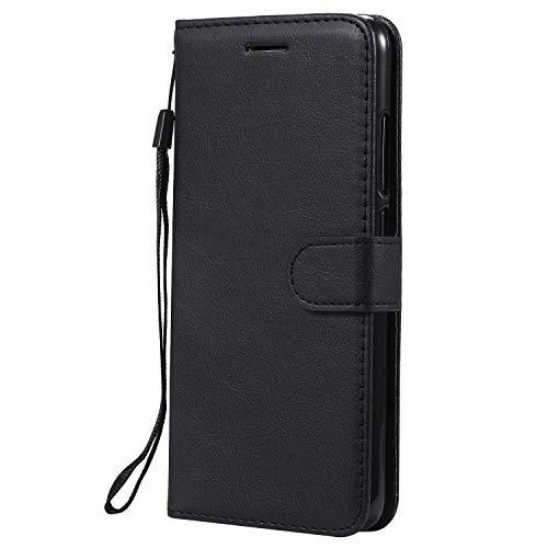 Jeewi Hülle für [Xiaomi Mi 8 Lite] Hülle Handyhülle [Standfunktion] [Kartenfach] [Magnetverschluss] Tasche Etui Schutzhülle lederhülle flip case für Xiaomi Mi8 Lite - JEKT051810 Schwarz