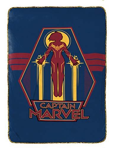 Jay Franco Captain Marvel Taking Off Blanket, Blue